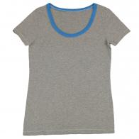 Серая с синим футболка. 100% хлопок, практичная модель