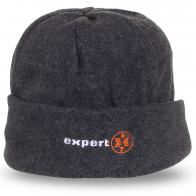 Серая шапка Expert с подворотом