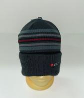 Серая шапка с тонкими полосками