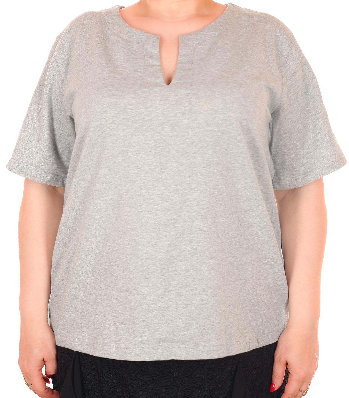 Серая женская футболка Nautica. Благородно-холодный дизайн для современной взрослой женщины