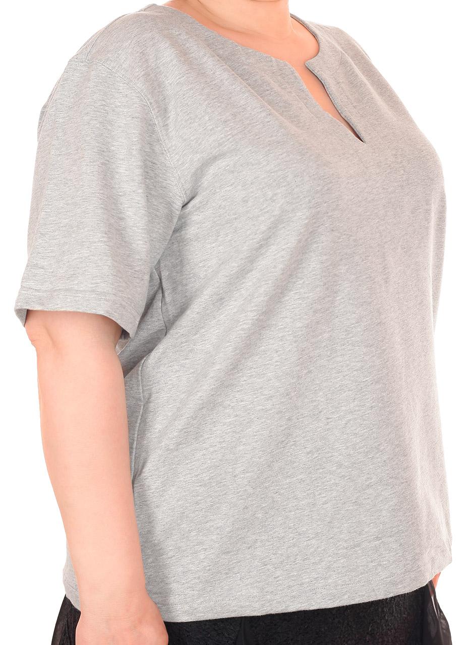 Брендовая женская футболка – модный серый цвет и фасон 2017