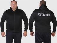 Серьезная толстовка с капюшоном и шевроном РОСГВАРДИЯ.