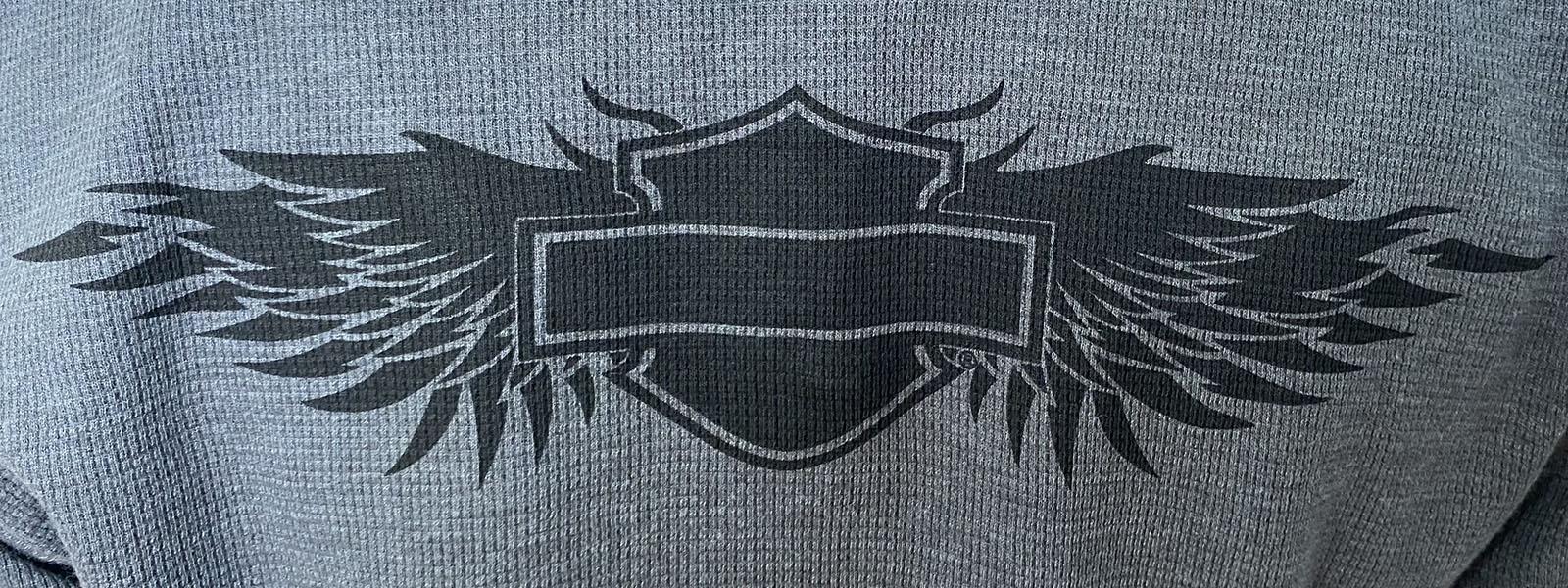 Женский серый реглан Harley-Davidson