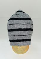 Серо-черная шапка в полоску