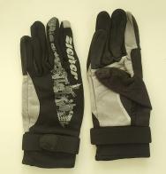 Серо-черные теплые перчатки от Ziener