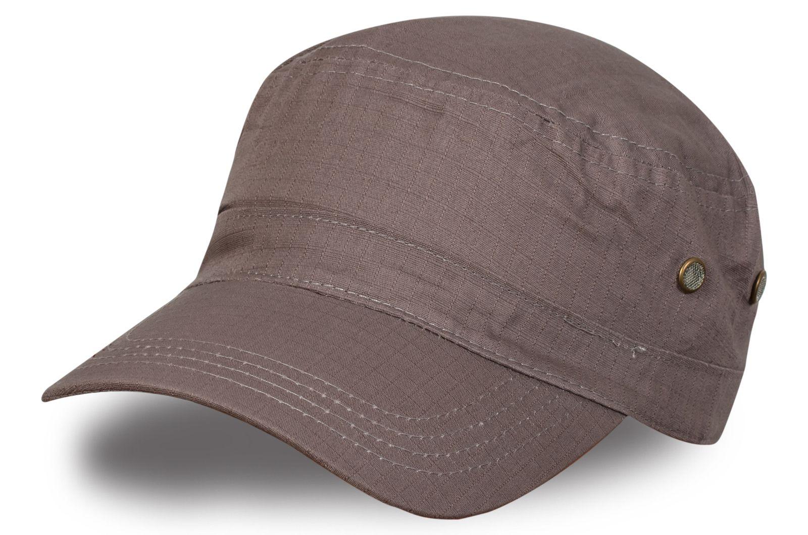 Серо-коричневая кепка-немка - заказать по лучшей цене