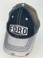 Серо-синяя бейсболка Ford с сеткой
