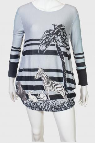 Серое ультрамилое платье-туника от Longbao