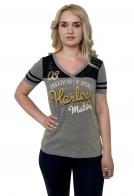 Серая женская футболка Harley-Davidson