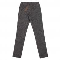 Серые женские брюки Pieces с рисунком.