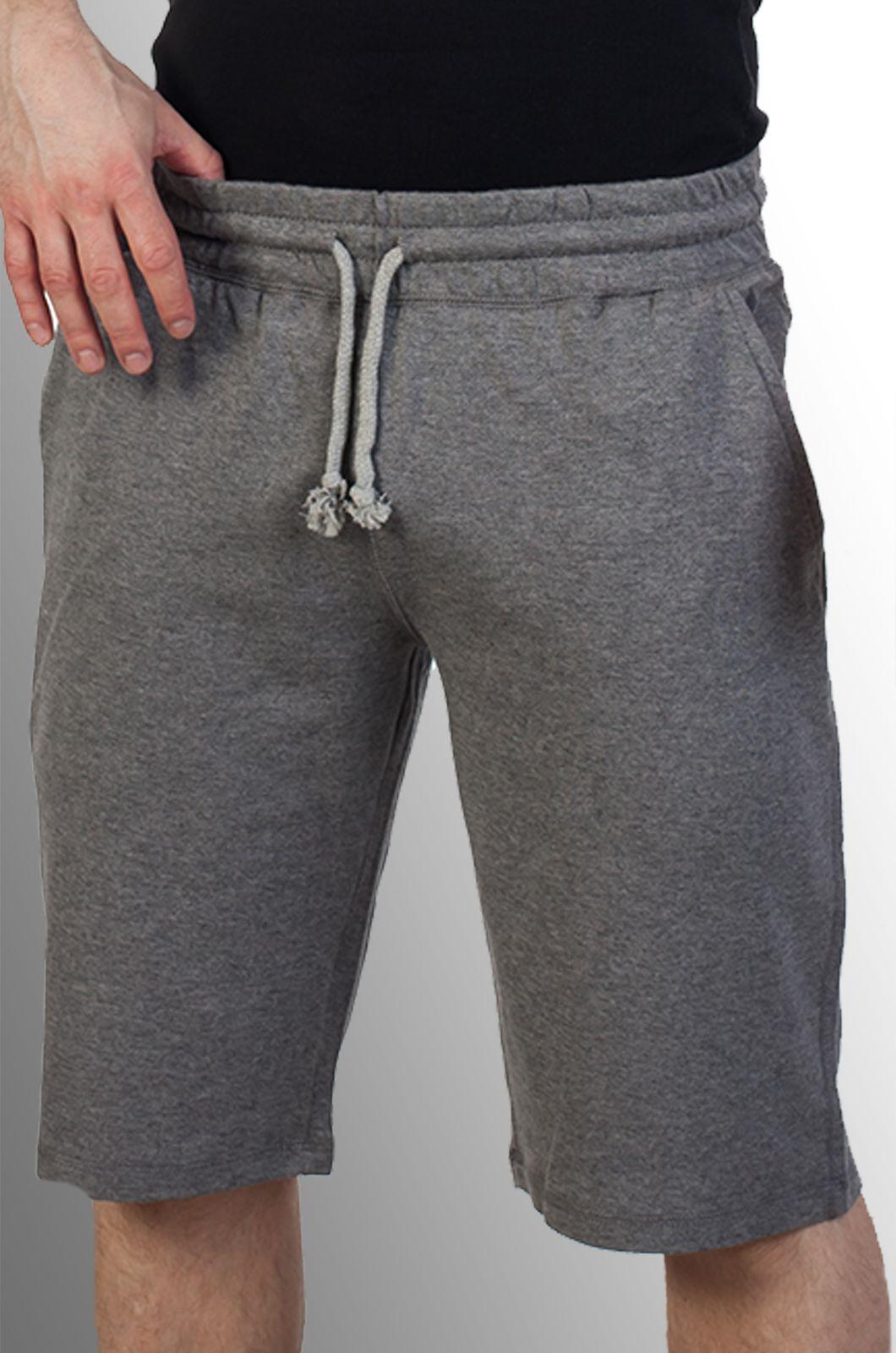 Серые мужские шорты из трикотажа