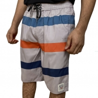 Серые мужские шорты Septwolves в полоску