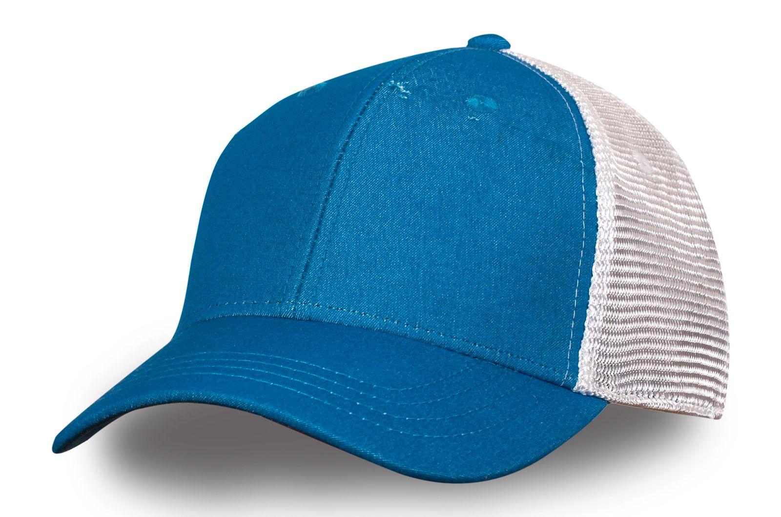 Сетчатая бейсболка сине-белая - купить в интернет-магазине