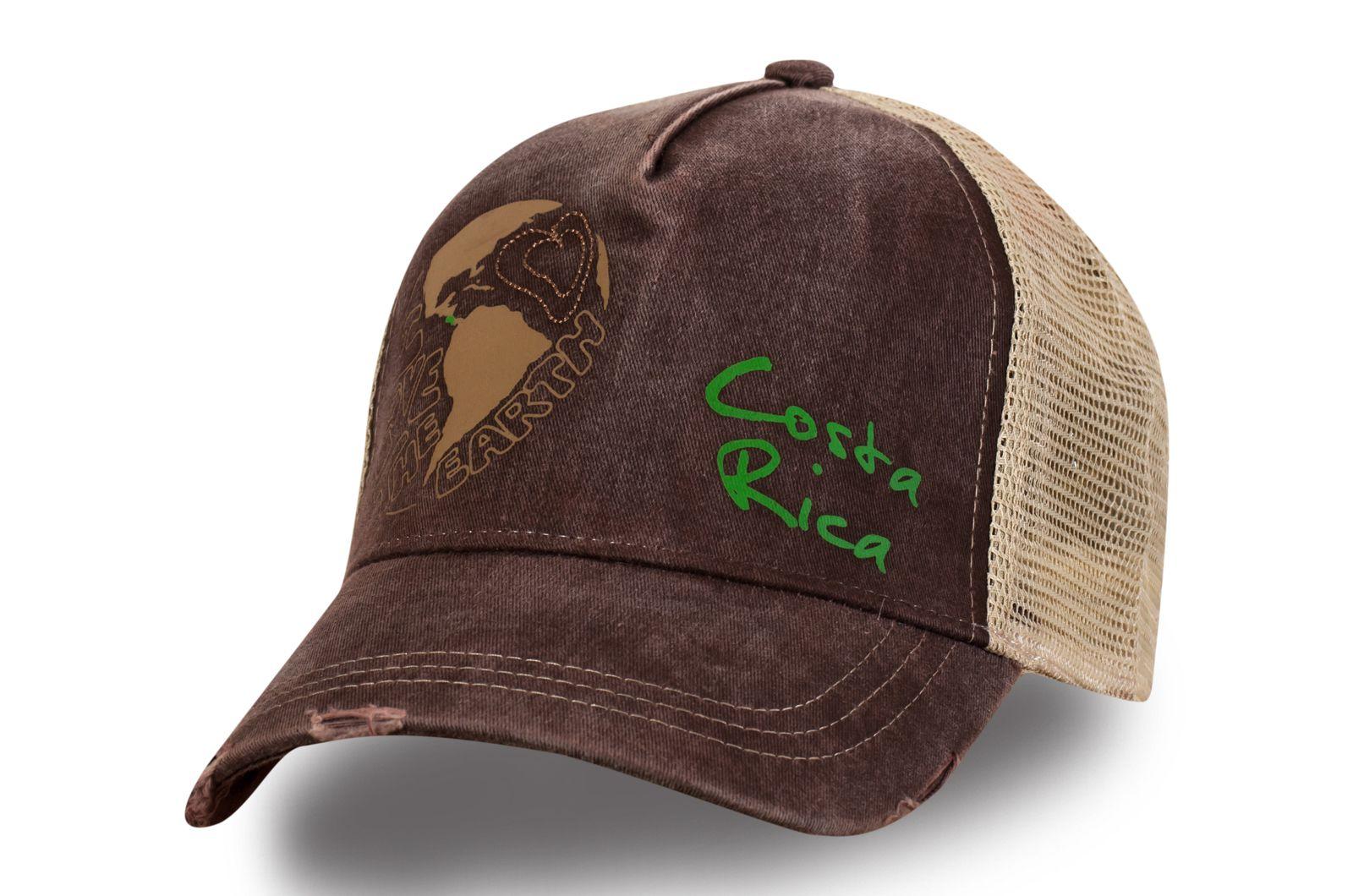 Сетчатая кепка с принтом - купить в интернет-магазине с доставкой