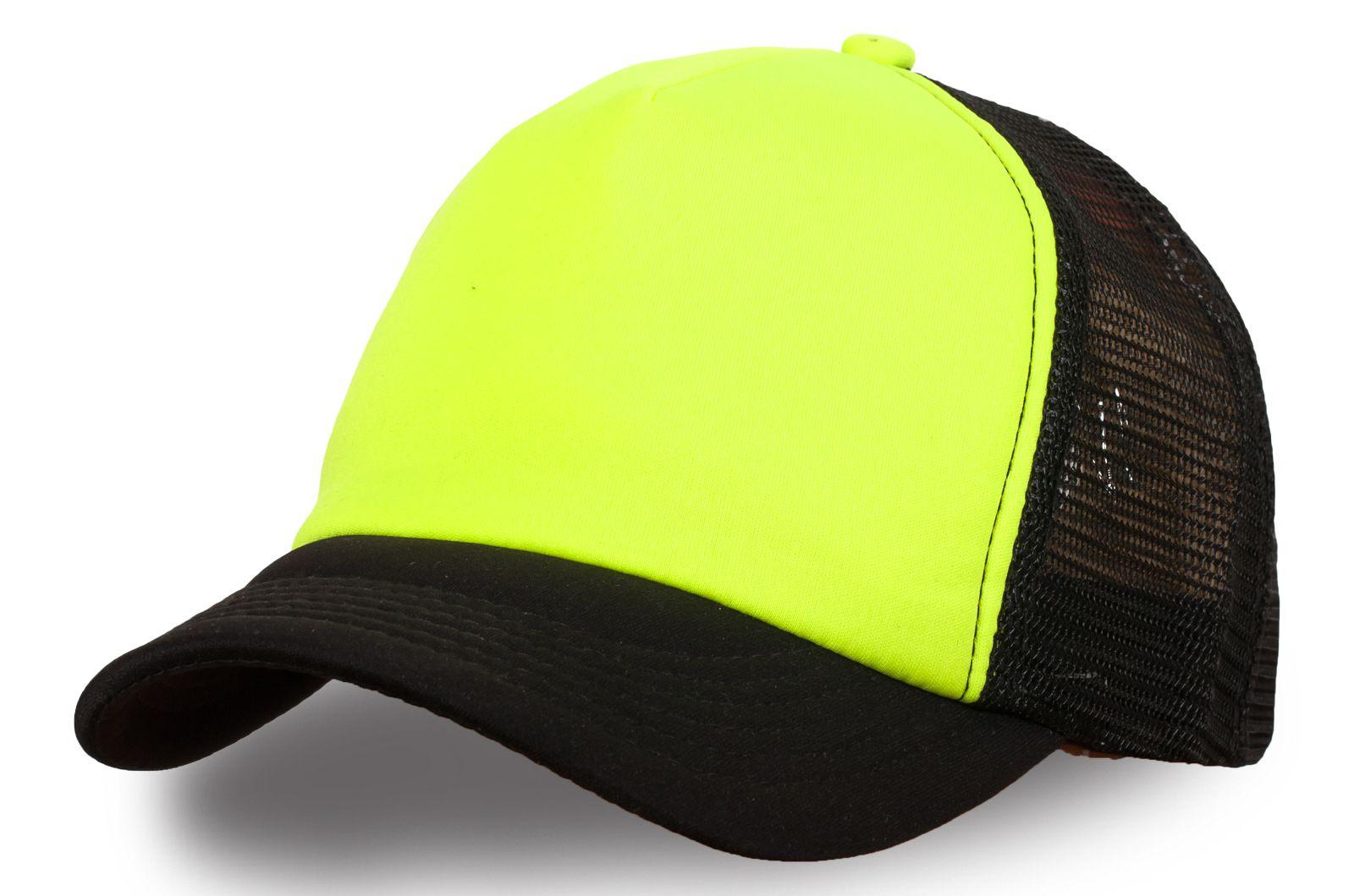 Сетчатая жёлто-чёрная бейсболка
