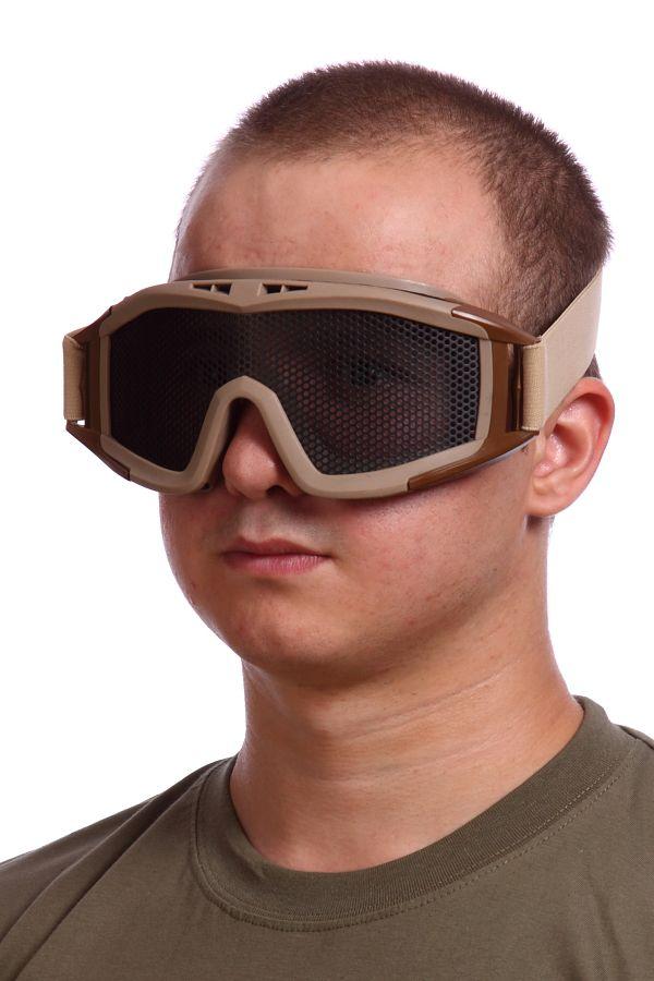 Сетчатые очки-маска Goggle хаки-песок