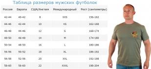 Армейская хлопковая футболка РУССКИЙ МОРПЕХ.