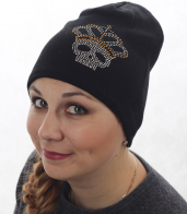 Женская шапка БИНИ с уютной флисовой подкладкой. Миниатюрная модель эффектно смотрится с распущенными и собранными волосами. Твой стильный аксессуар на осень-зиму