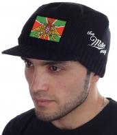 Осенне-зимняя мужская шапка Miller Way с символикой Пограничных войск РФ