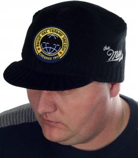 Вязаная шапка Miller Way с эмблемой и девизом Спецназа ГРУ – «Выше нас только звёзды». Тёплая и удобная кепка чёрного цвета – обязательная составляющая базового мужского гардероба
