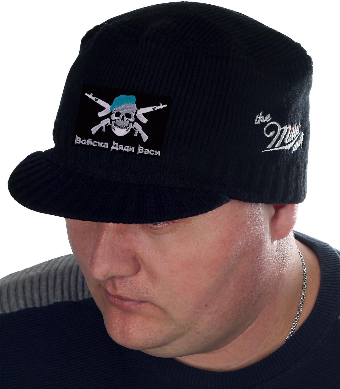 Тёплая мужская кепка Miller Way с прикольной нашивкой «Войска Дяди Васи». Практичные вещи с символикой ВДВ – это Военпро! ЭКСКЛЮЗИВНО и НЕДОРОГО!