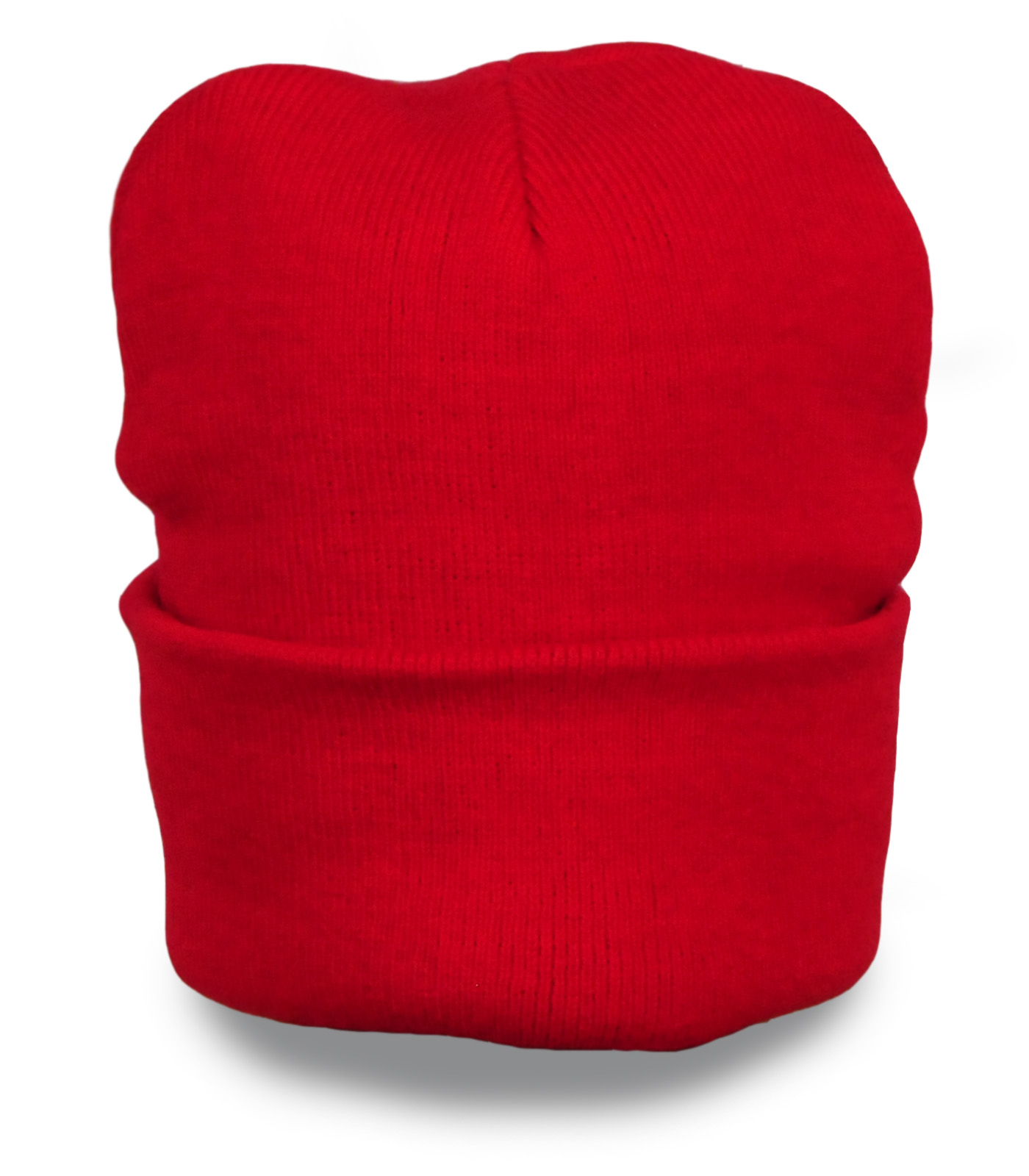 Яркая красная шапочка бини