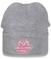 Недорогая серая шапка с отворотом от американского бренда Realtree