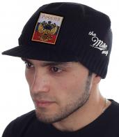 Самое время утеплиться! Мужская вязаная шапка-кепка Miller Way с гербом и флагом России. Стиль, комфорт и вменяемая цена. ОСТАВАЙСЯ СОБОЙ!