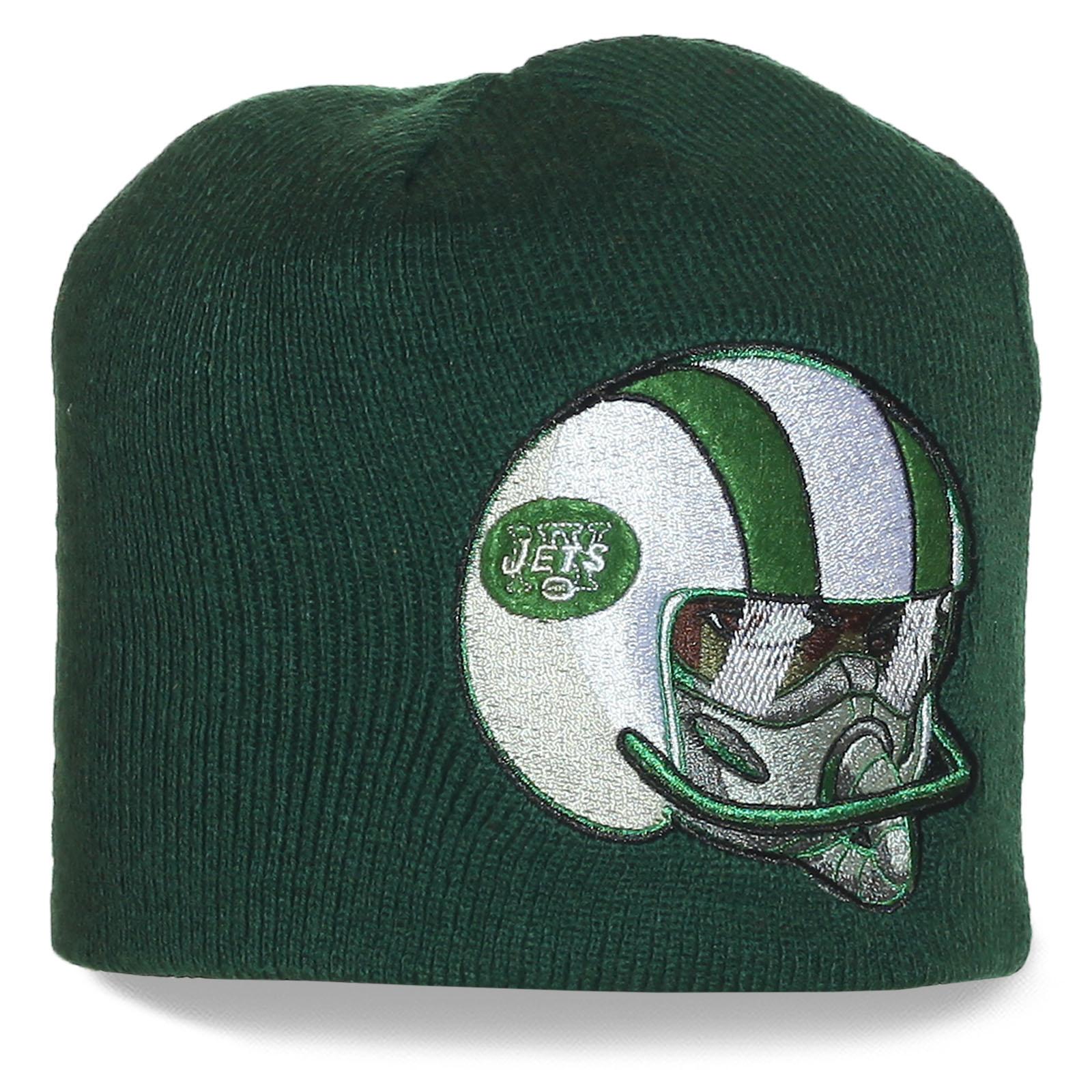Шапка с логотипом New York Jets - профессионального клуба по американскому футболу