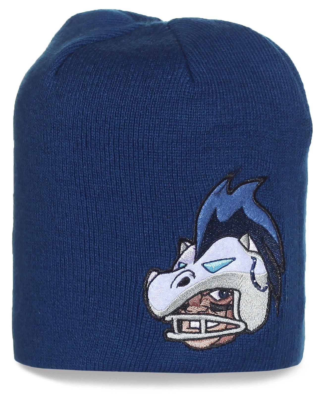 Шапка с логотипом профессионального клуба по американскому футболу Indianapolis Colts, выступающему в Национальной футбольной лиге