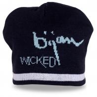 Недорогая вязаная шапка Wicked от французского бренда уличной одежды