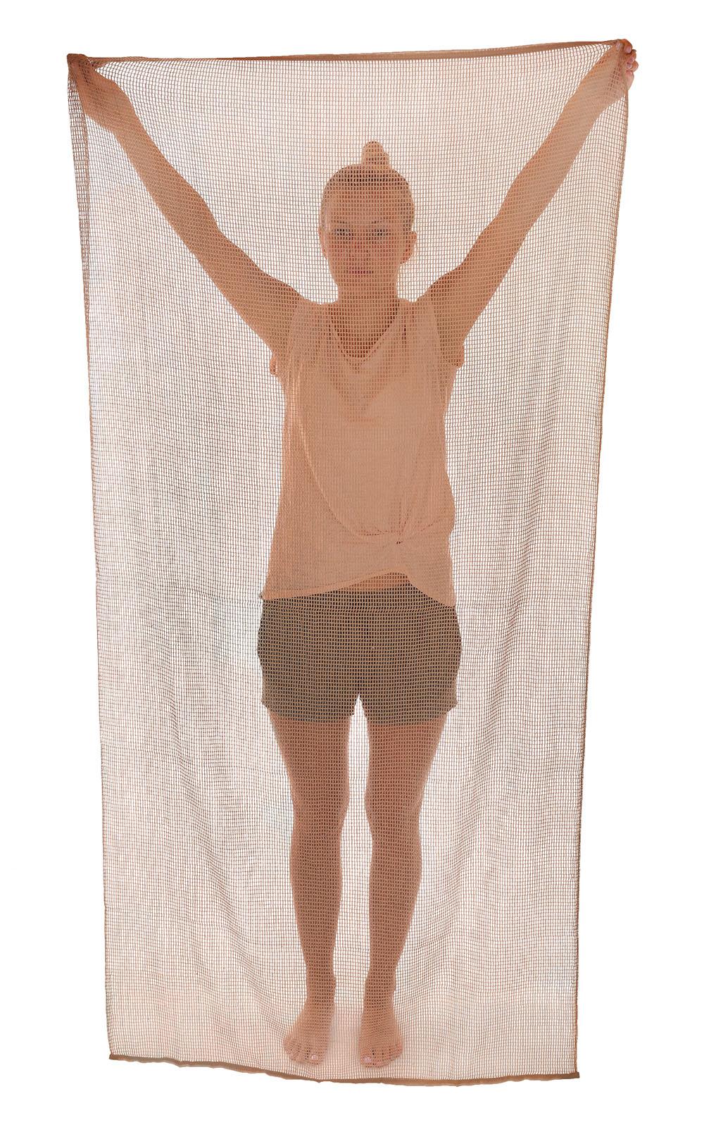 Заказать онлайн шарф-сетку хаки-песок по оптимальной цене