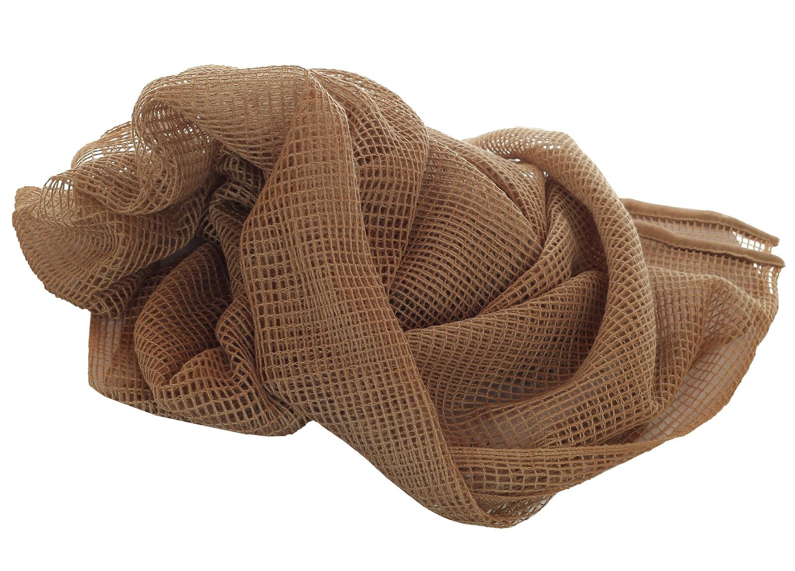 Шарф-сетка хаки-песок по лучшей цене