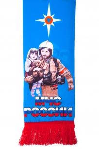 Шарф шёлковый МЧС России авторского дизайна