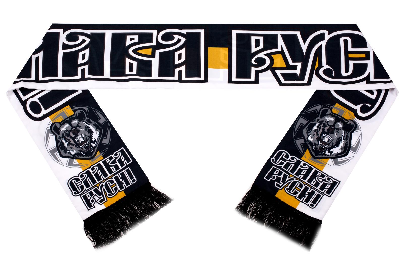 Купить шарф шёлковый «Медведь Коловрат»
