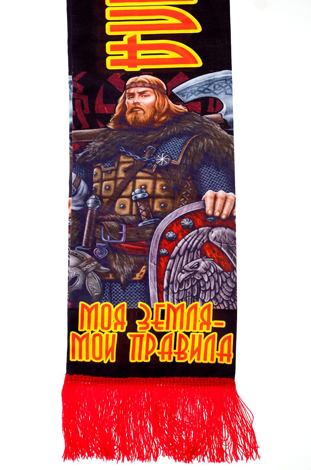 Шарф шёлковый «Моя земля – мои правила» от Военпро