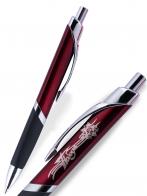 ШОК ЦЕНА!  Эргономичная шариковая ручка в комбинированном дизайне. Удобная прищепка, легкий корпус, надежный автоматический механизм подачи и возврата стержня