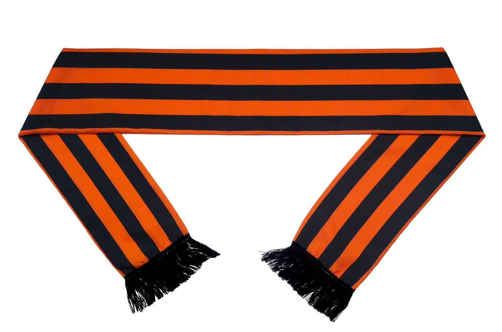Шелковый Георгиевский шарф