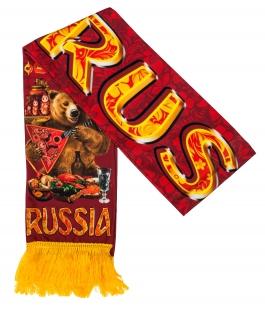 """Шелковый шарф """"Russia"""" по выгодной цене"""