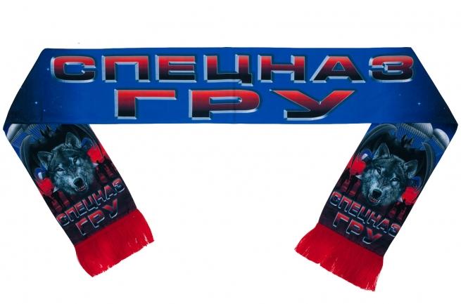 """Шёлковый шарф """"Спецназ ГРУ"""" с волком"""