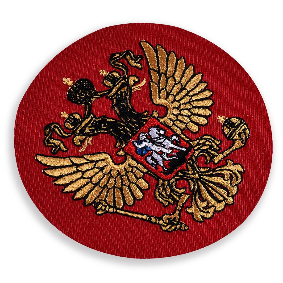 Шеврон Герб РФ красный