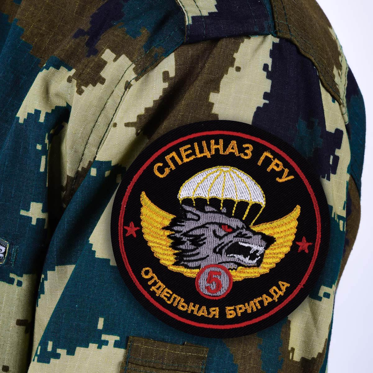 "Шеврон ГРУ ""5 бригада Спецназа"""