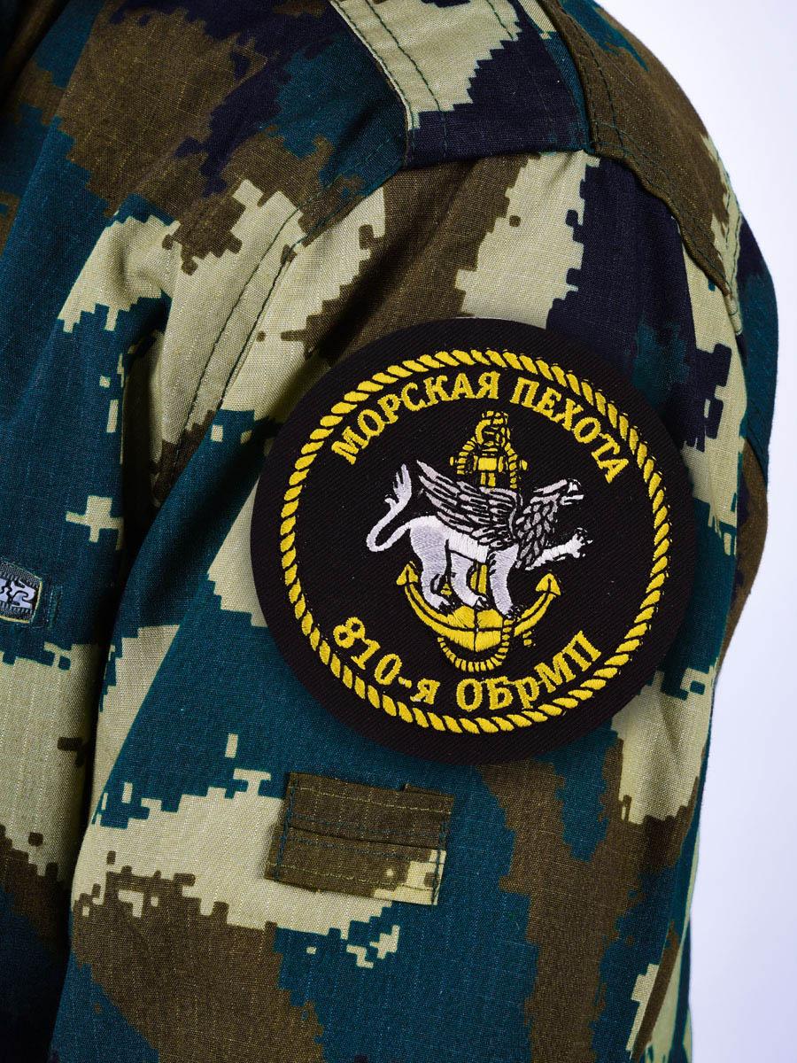 Шеврон Морской пехоты «810 ОБрМП»
