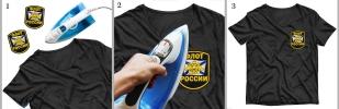 """Шеврон моряка """"Флот России"""" на футболке"""