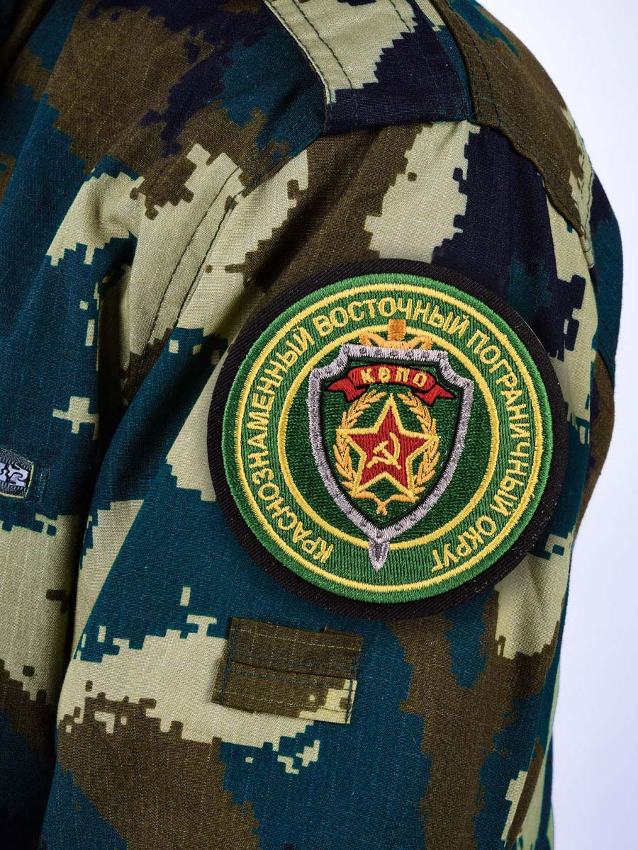 """Шеврон Погранвойск """"Краснознаменный Восточный пограничный округ"""" - на рукаве"""