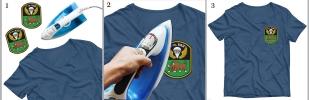 Шеврон ВДВ 7 гв. ВДД на футболке