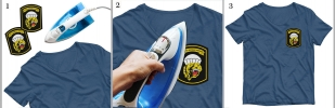 Шеврон ВДВ 83 ОДШБр на футболке