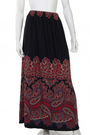 Шикарная макси-юбка с узорами