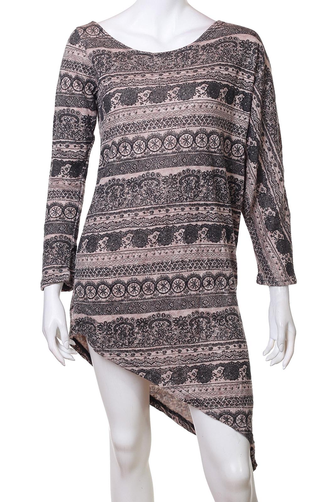Шикарное асимметричное платье-туника