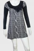 Шикарное молодежное платье-туника с крутым принтом